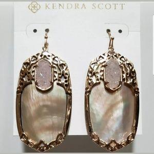 Kendra Scott Jewelry - Kendra Scott Deva Rose Gold Brown MOP Earrings